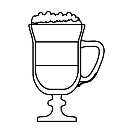 flavored: beverage coffee related icons image black line vector illustration design Illustration