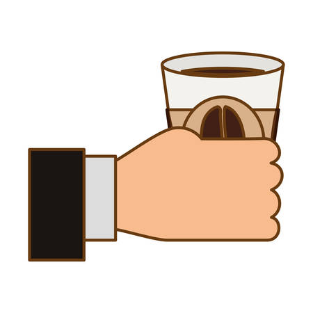 flavored: beverage coffee related icons image vector illustration design Illustration