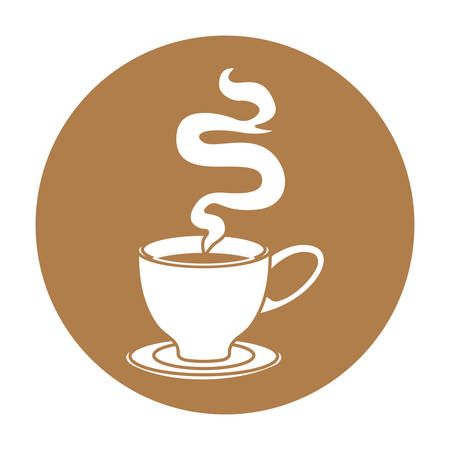 coffee related emblem button image vector illustration design Illustration