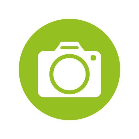 photographic camera button thumbnail icon image vector illustration design
