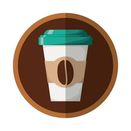 flavored: coffee related icons emblem vector illustration design