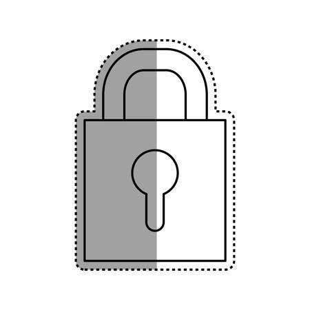 secured: Padlock security symbol icon vector illustration graphic design