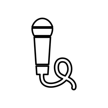 Microphone sound device icon vector illustration graphic design
