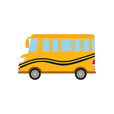 yellow schoolbus: School bus vehicle icon vector illustration graphic design Illustration