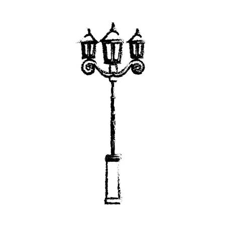 Street light lamp icon vector illustration graphic design