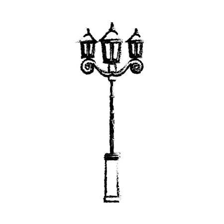 Street light lamp icoon vector illustratie grafisch ontwerp