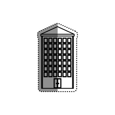 urbanization: Building real estate icon vector illustration graphic design