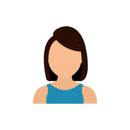 blank template: Woman faceless profile icon vector illustration graphic design Illustration