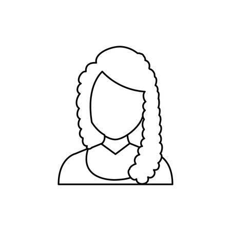 woman profile: Woman faceless profile icon vector illustration graphic design Illustration