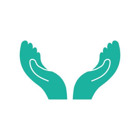 begging: Hands open symbol icon vector illustration graphic design