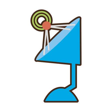 cartoon antenna dish radar technology icon vector illustration eps 10 Illustration