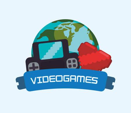 videogames online world console heart vector illustration eps 10