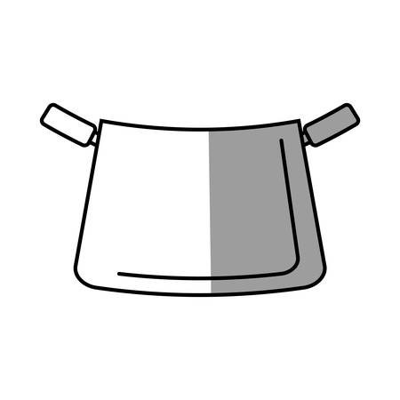saute: pot kitchenware metal cooking shadow vector illustration eps 10 Illustration