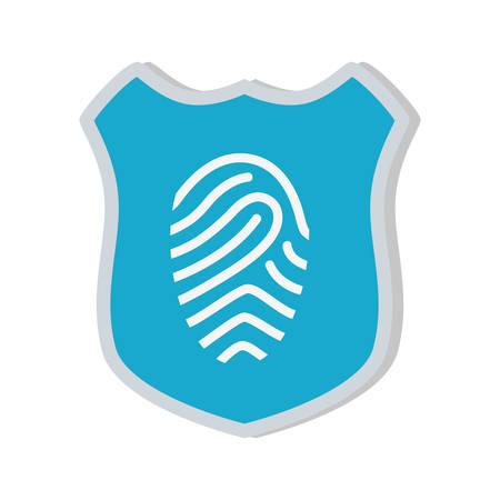 shiled: shiled protection fingerprint secure system vector illustration eps 10