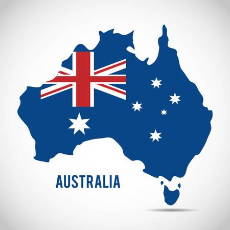 national flag australia related emblem image vector illustration design Vector Illustration