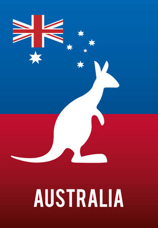 commonwealth: national flag australia related emblem image vector illustration design