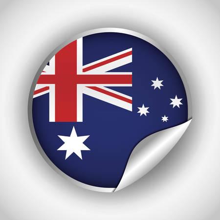 national flag australia related emblem image vector illustration design