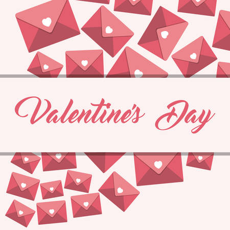 themed: valentines day themed emblem image vector illustration design Illustration
