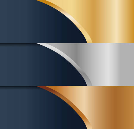 abstract gold silver bronze metals icon image vector illustration design Illustration