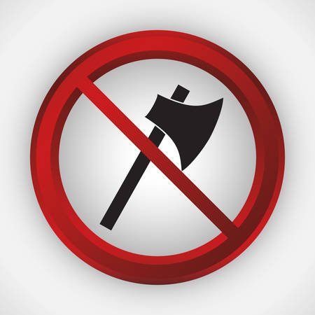 abstain: weapons forbidden icon image vector illustration design