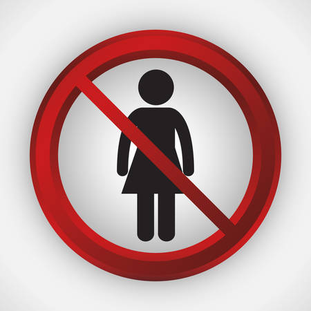 women forbidden icon image vector illustration design Illustration