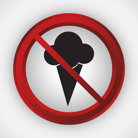abstain: ice cream or food forbidden icon image vector illustration design