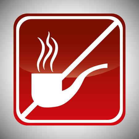 abstain: smoking forbidden icon image vector illustration design Illustration