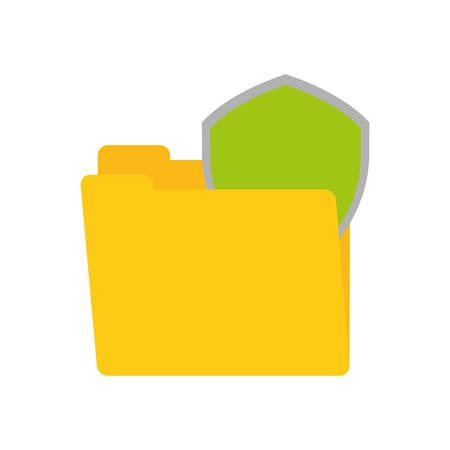 shiled: folder data shiled protection security technology vector illustration eps 10