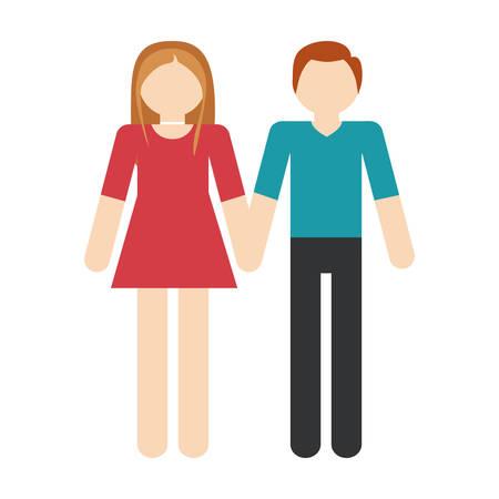 couple romantic love passion vector illustration eps 10