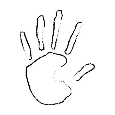 hand print icon image vector illustration design Illustration