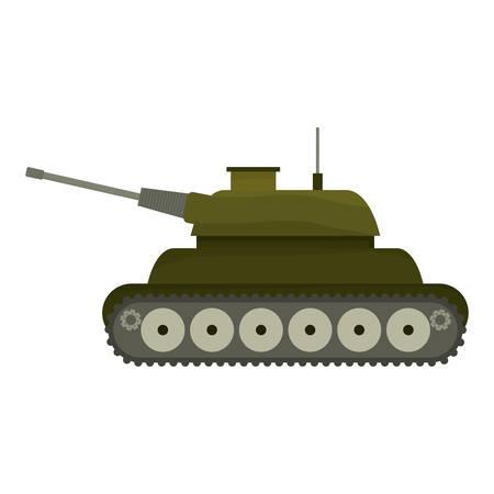 Tank car for navy war icon image vector illustration