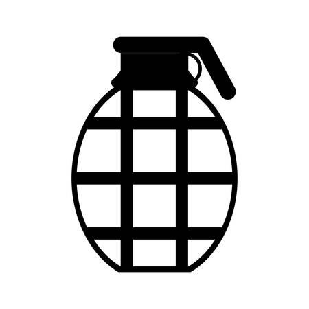 Grenade military equipment icon image vector illustration design Illustration