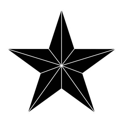 Star showing military authority icon image vector illustration Illustration