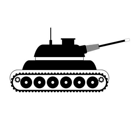 Tank car for navy icon image vector illustration desing