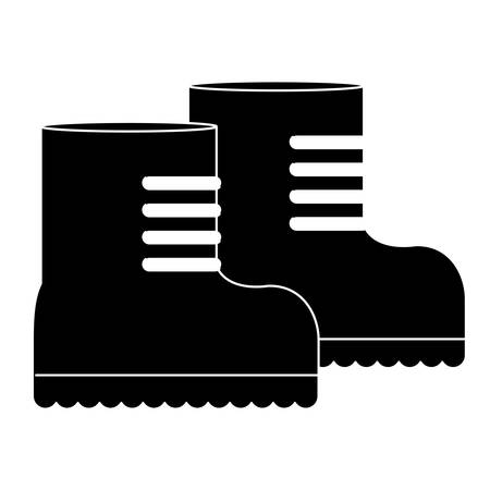 foot soldier: Boots, equipment for military protection icon image, vector illustration