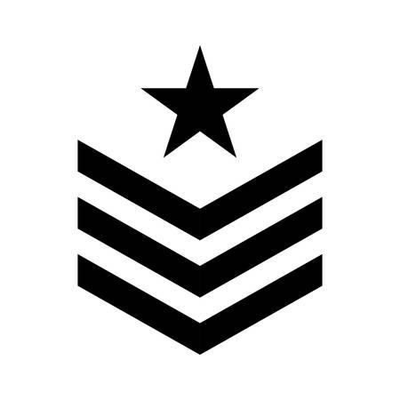 Militärsymbolikonenbild, Vektorillustrationsdesign