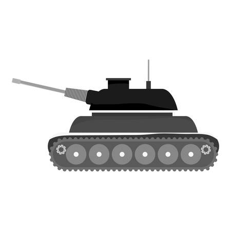 Contour tank car for navy war icon, vector illustration