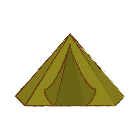 Camp of green color where the military rest icon image