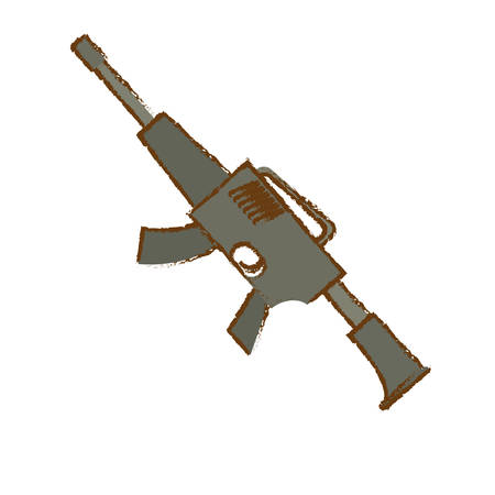 airborne: War rifle of gray color for soldiers navy tool vector illustration