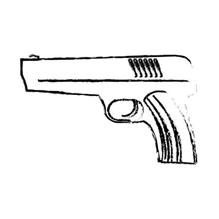 ilustration: Firearm silhouette of military equipment icon image, vector ilustration