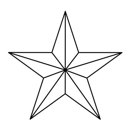 Star figure showing military authority icon image, vector illustration