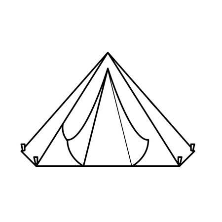 Camp figure where the military rest, icon image Illustration