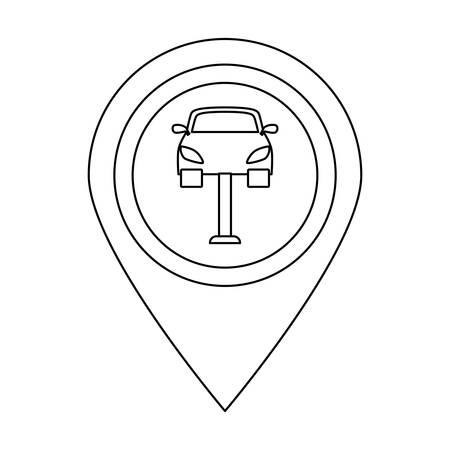 sex traffic: Symbol repair of car near image, vector illustration design