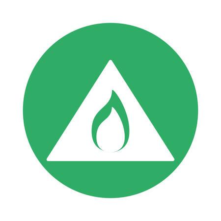 Signal flammable warning symbol image, vector illustration