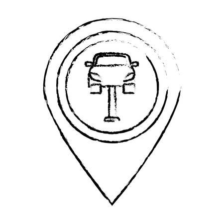 sex traffic: Figure symbol repair of car near, vector illustration design