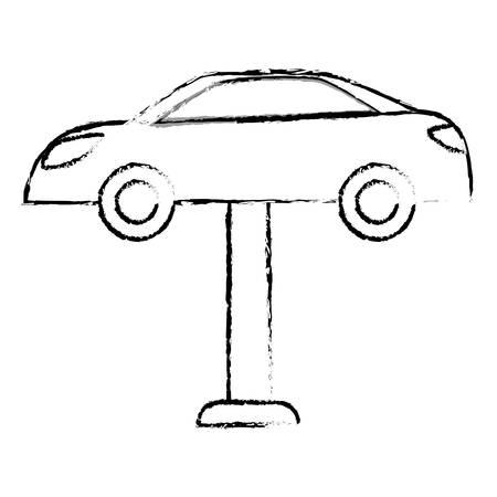 Contour car repair icon image, vector illustration