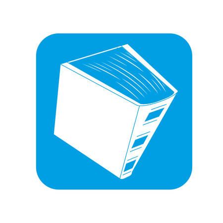 Image d'icône encyclopédie contour, conception illustration vectorielle