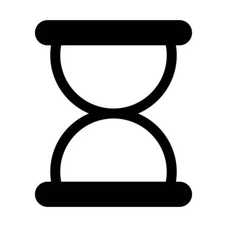 Black symbol loading icon design image, vector illustration Illustration