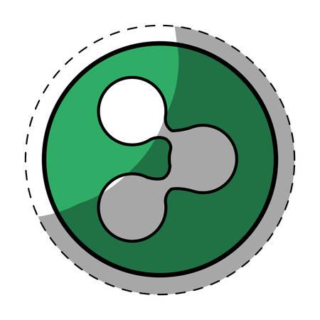Green symbol share button image, vector illustration