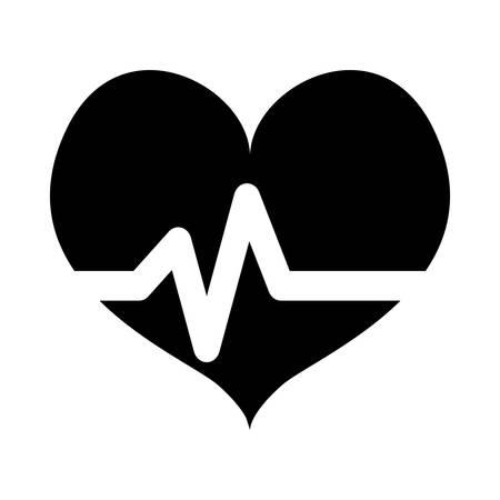 Negro escuchó la imagen del icono de cardiología médica, ilustración vectorial Foto de archivo - 70282580